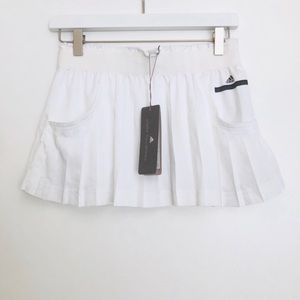 Adidas Stella McCartney white pleated tennis skirt